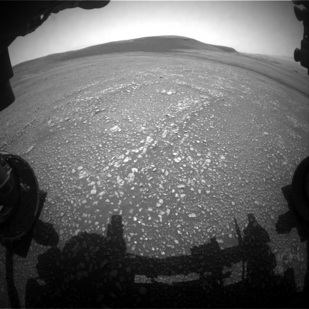 Nasa's Mars rover Curiosity acquired this image using its Front Hazard Avoidance Camera (Front Hazcam) on Sol 2360, at drive 936, site number 75