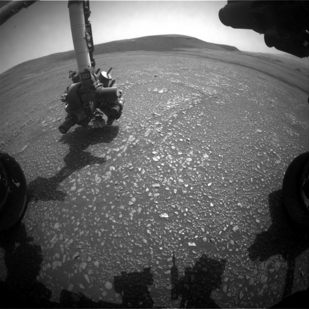 Nasa's Mars rover Curiosity acquired this image using its Front Hazard Avoidance Camera (Front Hazcam) on Sol 2361, at drive 936, site number 75