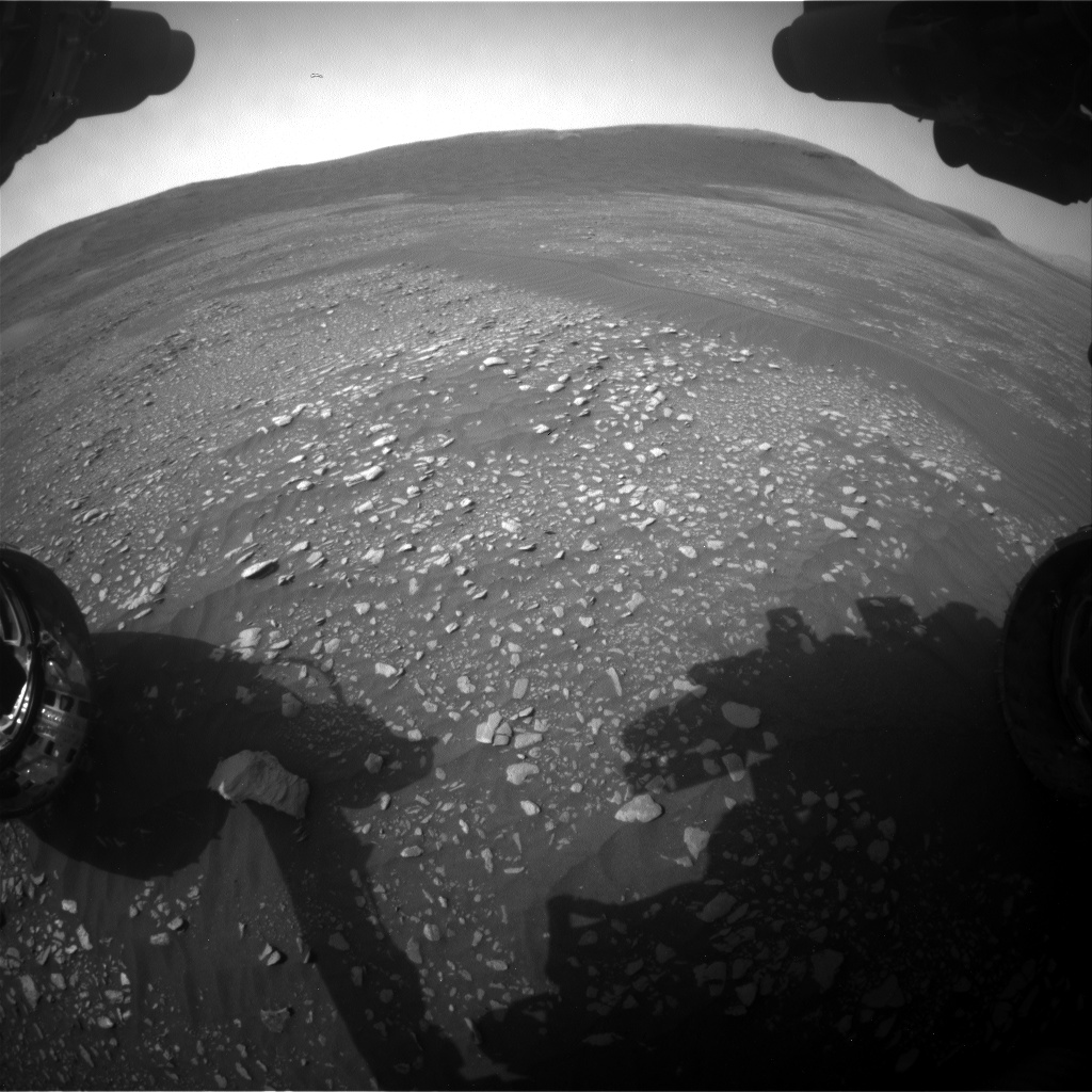 Nasa's Mars rover Curiosity acquired this image using its Front Hazard Avoidance Camera (Front Hazcam) on Sol 2361, at drive 1128, site number 75