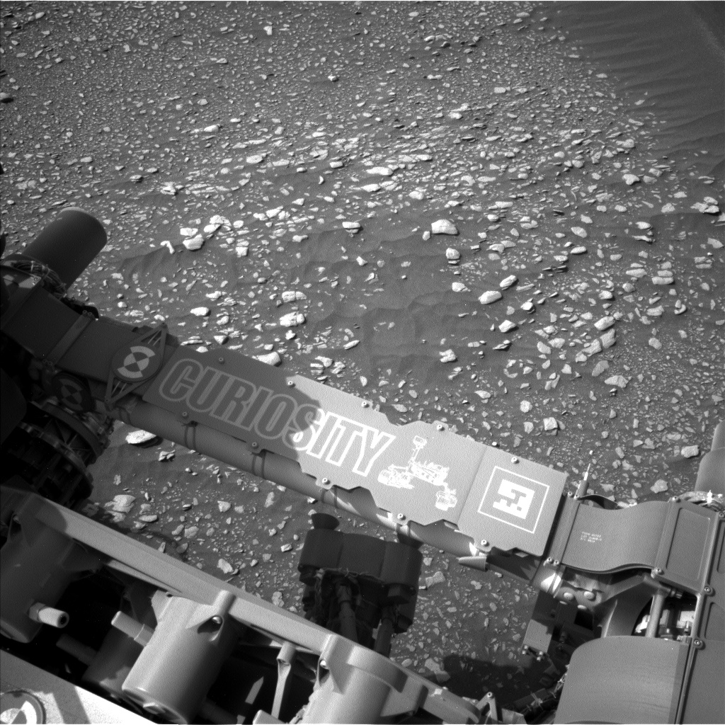 Nasa's Mars rover Curiosity acquired this image using its Left Navigation Camera on Sol 2361, at drive 1128, site number 75