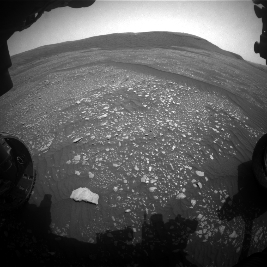 Nasa's Mars rover Curiosity acquired this image using its Front Hazard Avoidance Camera (Front Hazcam) on Sol 2362, at drive 1128, site number 75