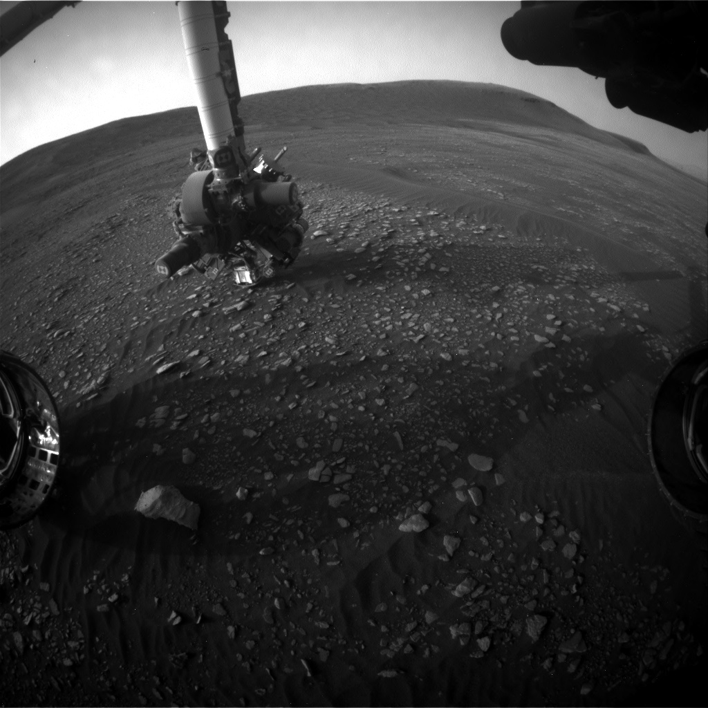 Nasa's Mars rover Curiosity acquired this image using its Front Hazard Avoidance Camera (Front Hazcam) on Sol 2363, at drive 1128, site number 75