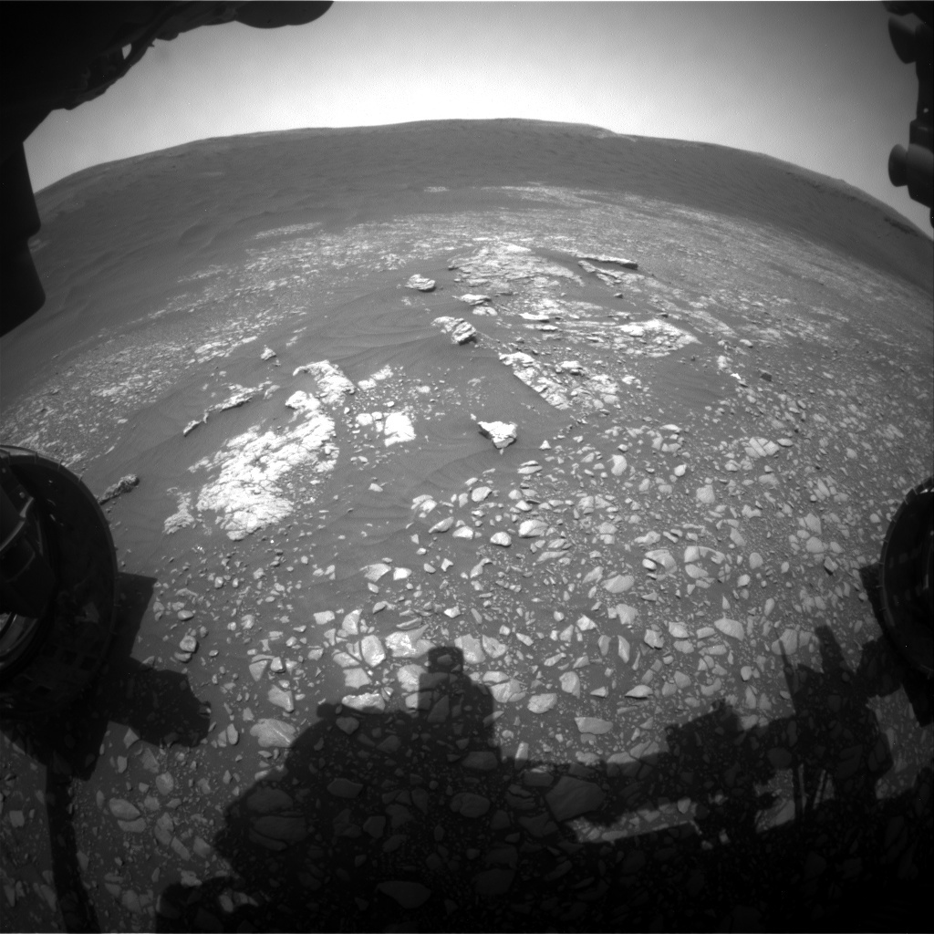 NASA's Mars rover Curiosity acquired this image using its Front Hazard Avoidance Cameras (Front Hazcams) on Sol 2364