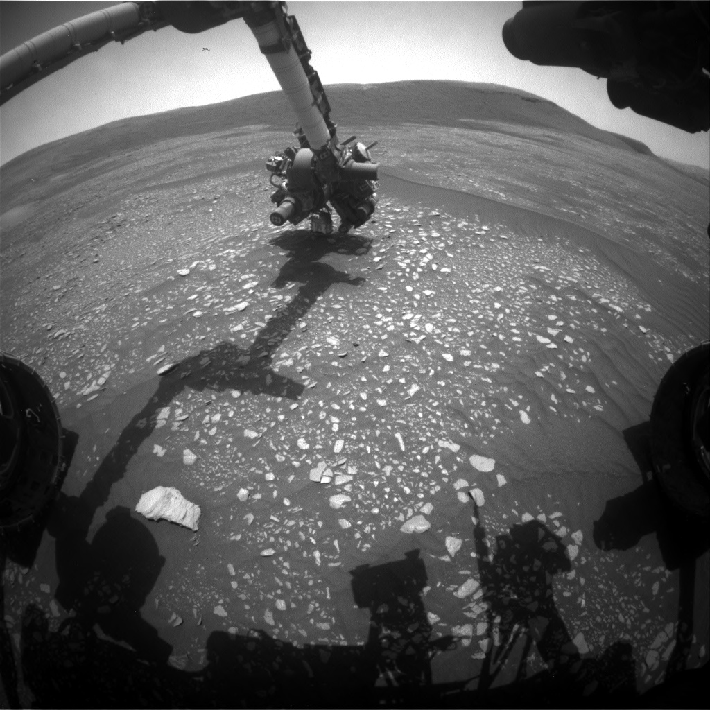 Nasa's Mars rover Curiosity acquired this image using its Front Hazard Avoidance Camera (Front Hazcam) on Sol 2364, at drive 1128, site number 75