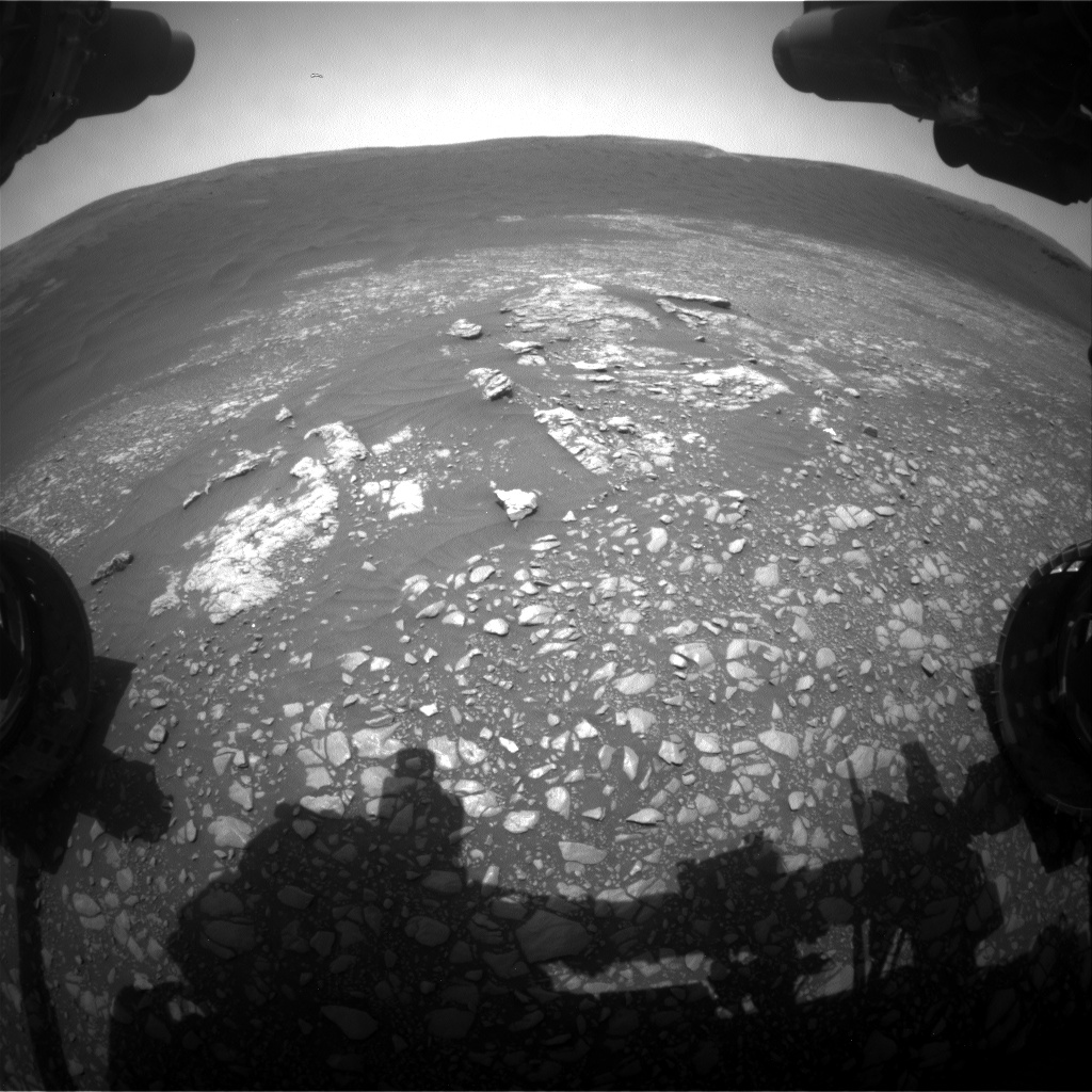 Nasa's Mars rover Curiosity acquired this image using its Front Hazard Avoidance Camera (Front Hazcam) on Sol 2364, at drive 1350, site number 75