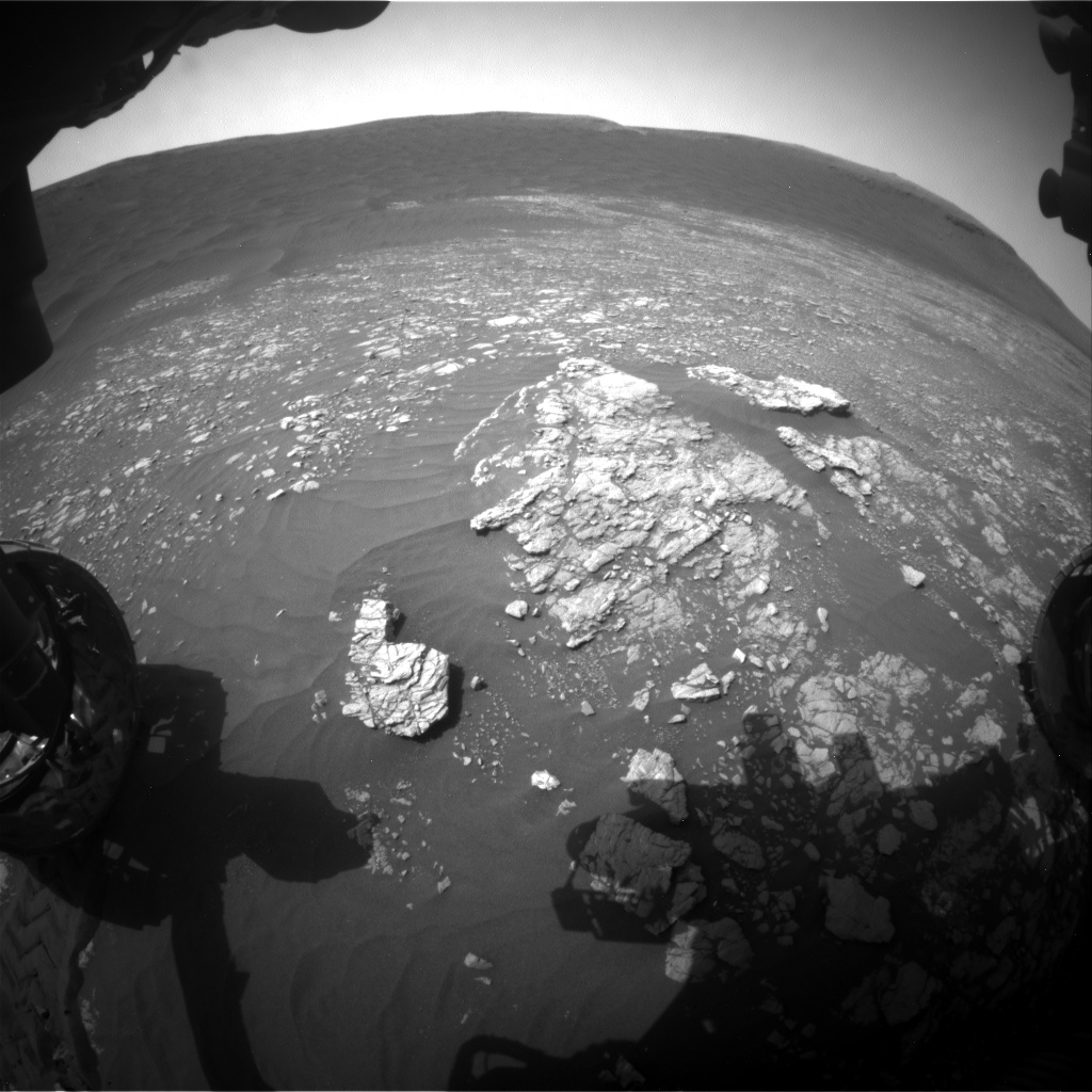 Nasa's Mars rover Curiosity acquired this image using its Front Hazard Avoidance Camera (Front Hazcam) on Sol 2365, at drive 1386, site number 75