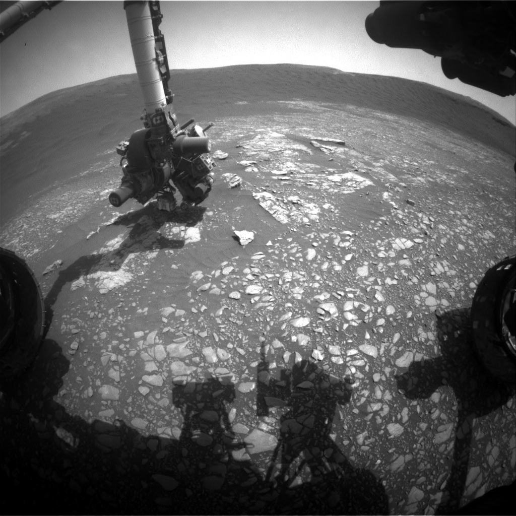 Nasa's Mars rover Curiosity acquired this image using its Front Hazard Avoidance Camera (Front Hazcam) on Sol 2365, at drive 1350, site number 75