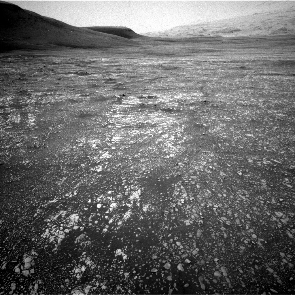 Nasa's Mars rover Curiosity acquired this image using its Left Navigation Camera on Sol 2365, at drive 1386, site number 75