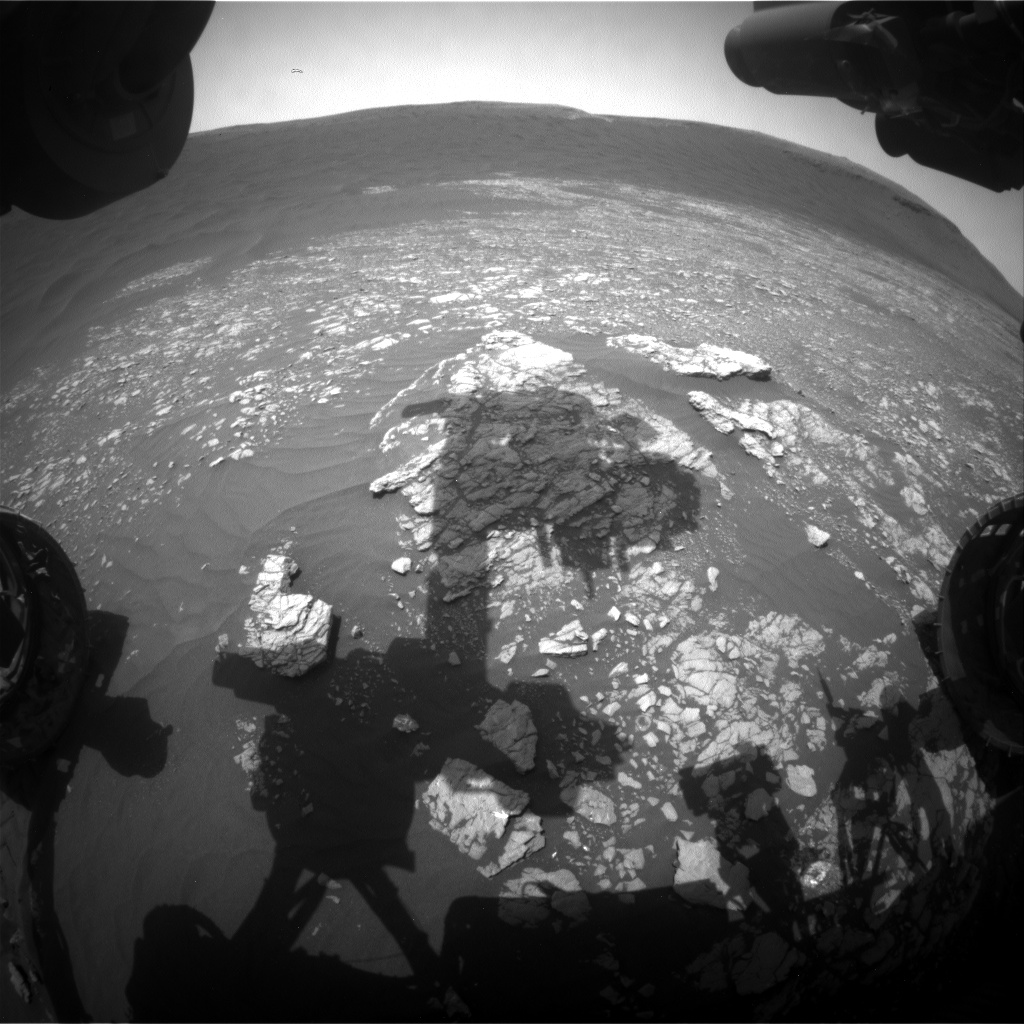Nasa's Mars rover Curiosity acquired this image using its Front Hazard Avoidance Camera (Front Hazcam) on Sol 2366, at drive 1386, site number 75