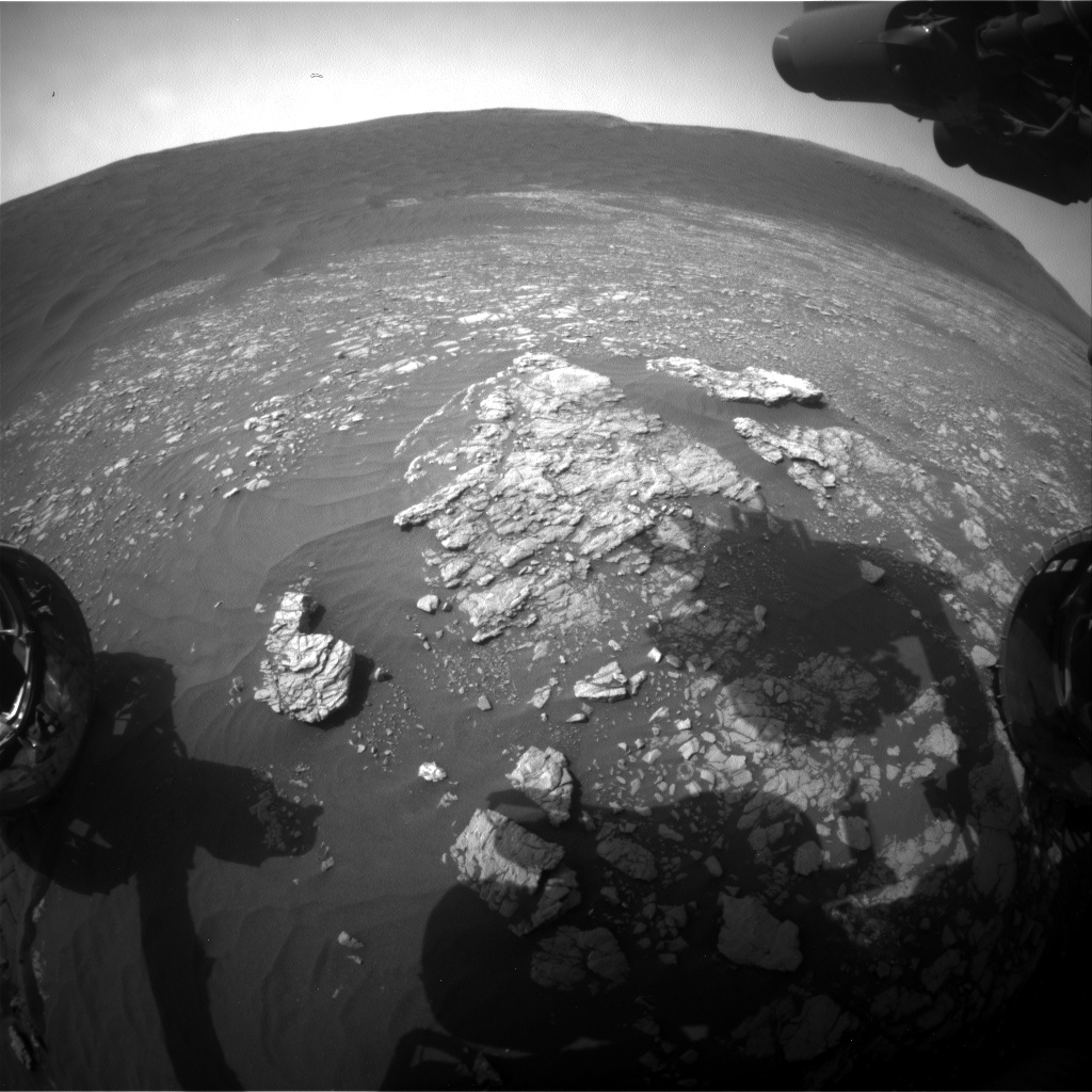 Nasa's Mars rover Curiosity acquired this image using its Front Hazard Avoidance Camera (Front Hazcam) on Sol 2367, at drive 1386, site number 75