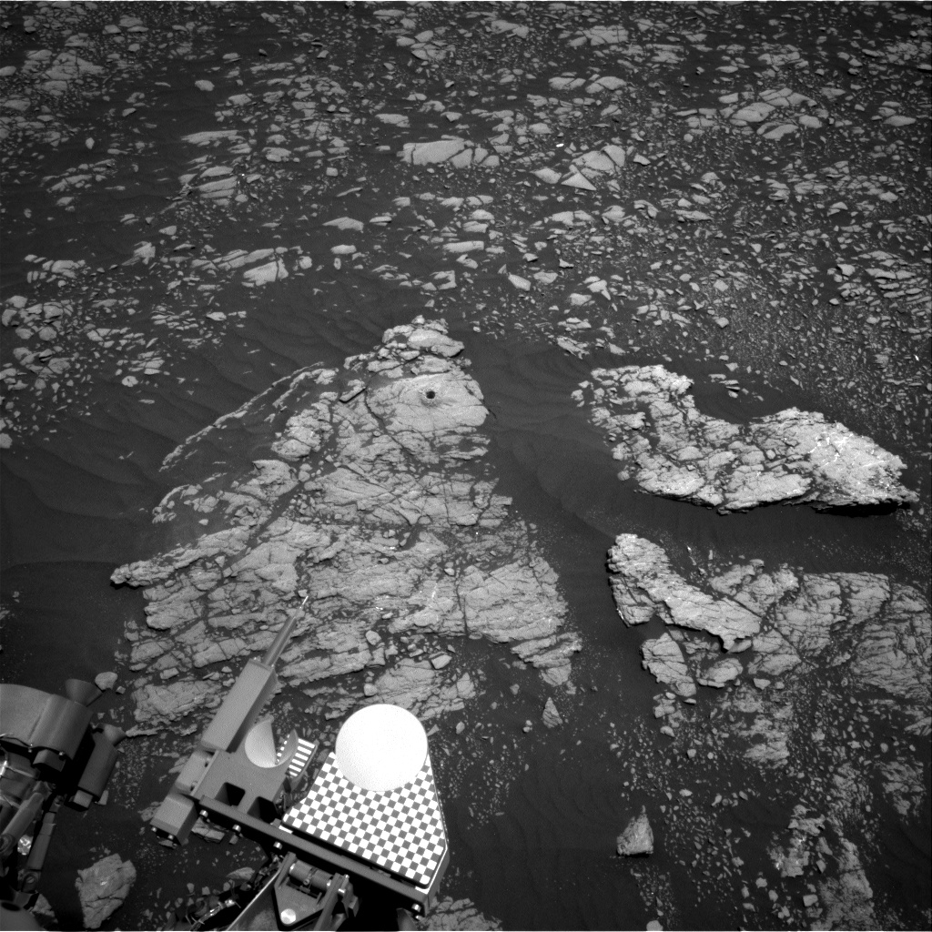 Nasa's Mars rover Curiosity acquired this image using its Right Navigation Camera on Sol 2370, at drive 1386, site number 75