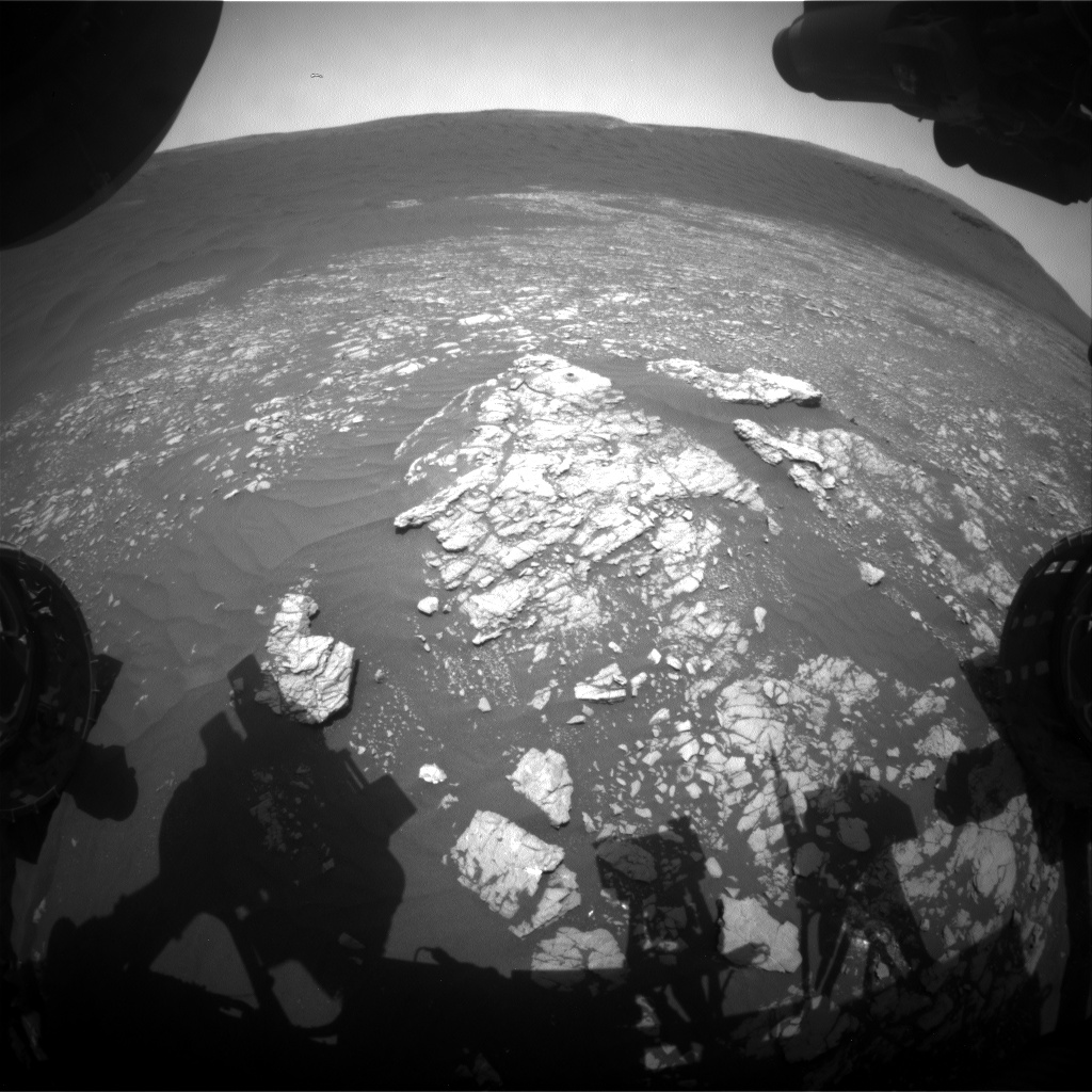 Nasa's Mars rover Curiosity acquired this image using its Front Hazard Avoidance Camera (Front Hazcam) on Sol 2371, at drive 1386, site number 75