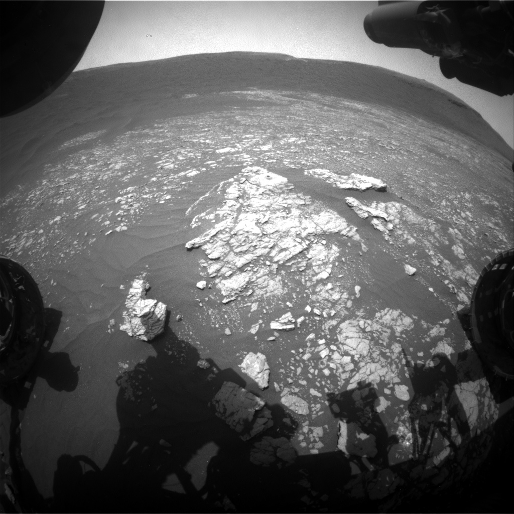 Nasa's Mars rover Curiosity acquired this image using its Front Hazard Avoidance Camera (Front Hazcam) on Sol 2372, at drive 1386, site number 75