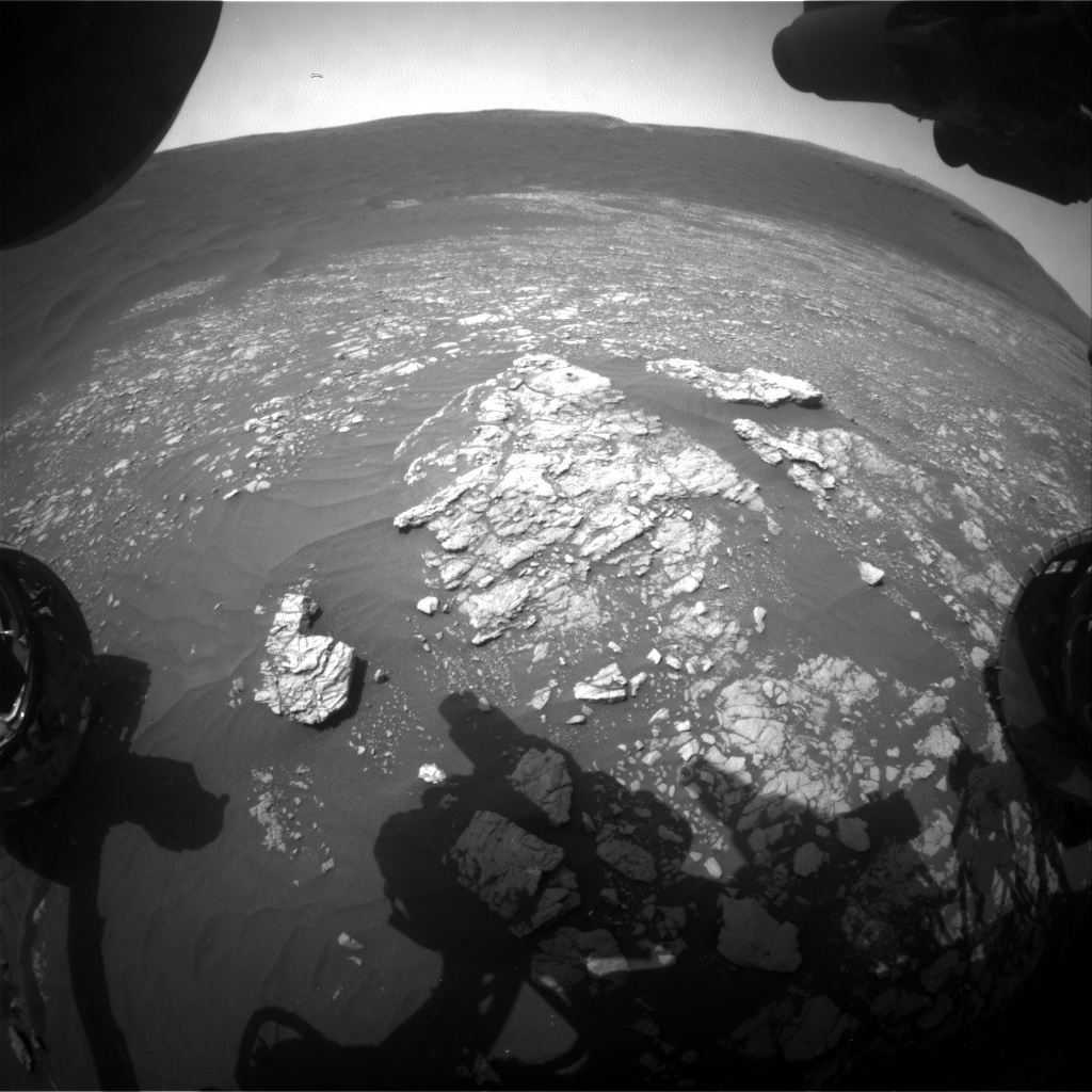 Nasa's Mars rover Curiosity acquired this image using its Front Hazard Avoidance Camera (Front Hazcam) on Sol 2373, at drive 1386, site number 75