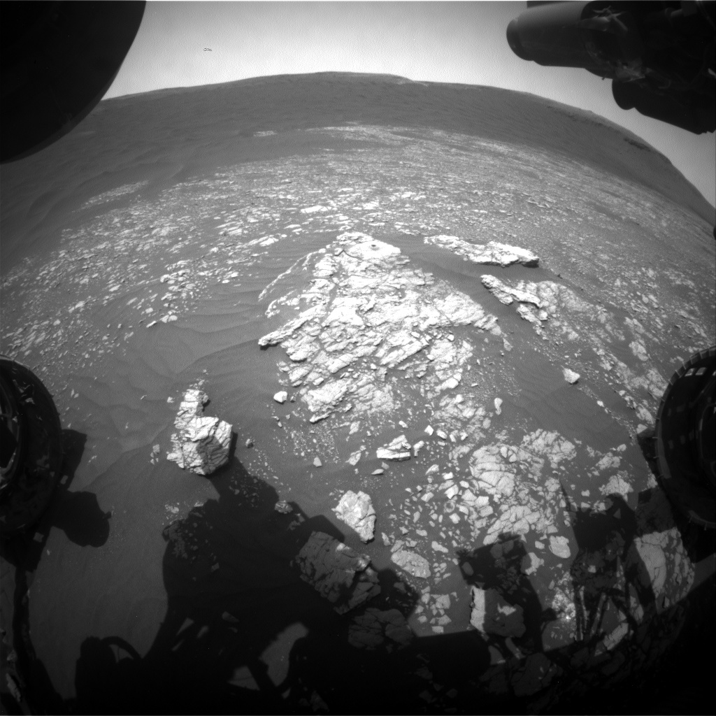 Nasa's Mars rover Curiosity acquired this image using its Front Hazard Avoidance Camera (Front Hazcam) on Sol 2374, at drive 1386, site number 75