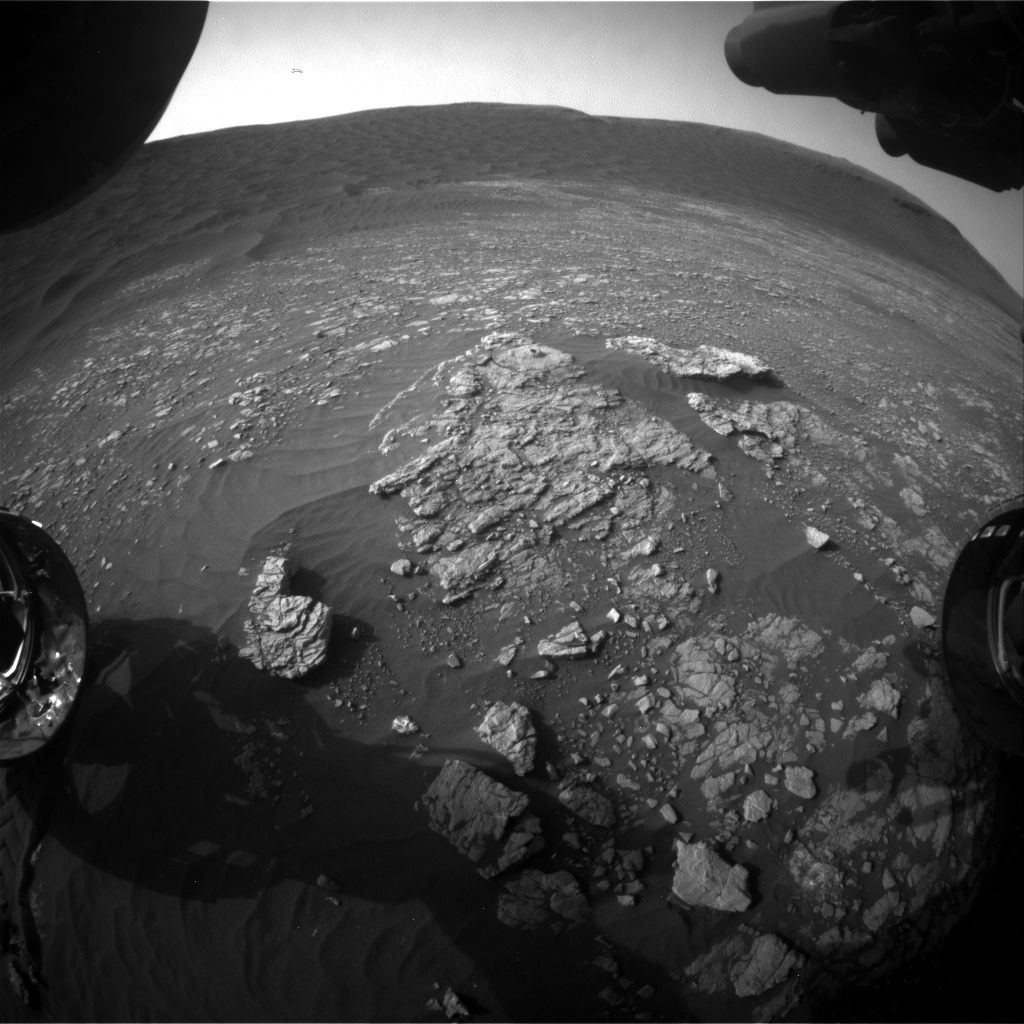 Nasa's Mars rover Curiosity acquired this image using its Front Hazard Avoidance Camera (Front Hazcam) on Sol 2375, at drive 1386, site number 75