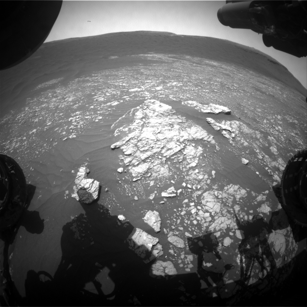 Nasa's Mars rover Curiosity acquired this image using its Front Hazard Avoidance Camera (Front Hazcam) on Sol 2376, at drive 1386, site number 75