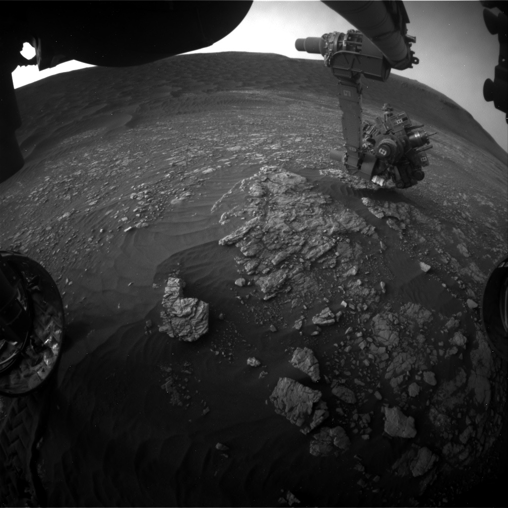 Nasa's Mars rover Curiosity acquired this image using its Front Hazard Avoidance Camera (Front Hazcam) on Sol 2377, at drive 1386, site number 75