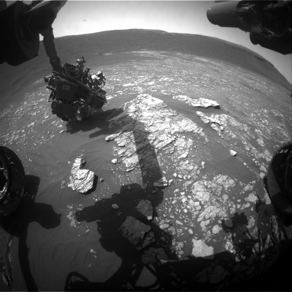 Nasa's Mars rover Curiosity acquired this image using its Front Hazard Avoidance Camera (Front Hazcam) on Sol 2378, at drive 1386, site number 75