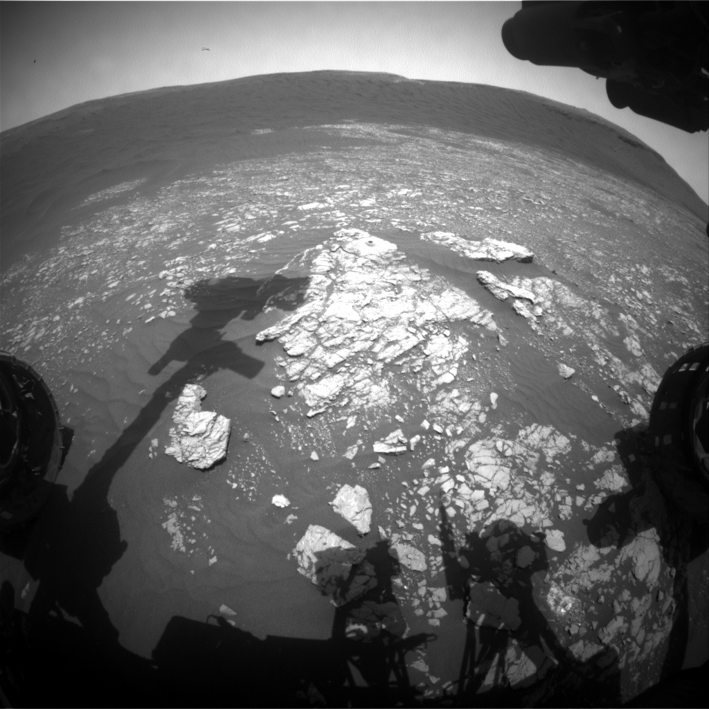 Nasa's Mars rover Curiosity acquired this image using its Front Hazard Avoidance Camera (Front Hazcam) on Sol 2379, at drive 1386, site number 75
