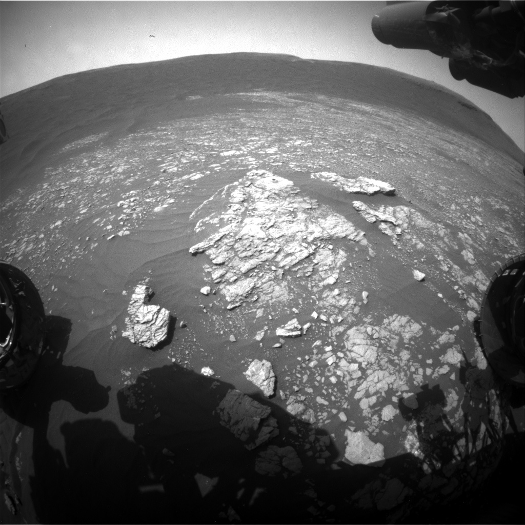 Nasa's Mars rover Curiosity acquired this image using its Front Hazard Avoidance Camera (Front Hazcam) on Sol 2380, at drive 1386, site number 75
