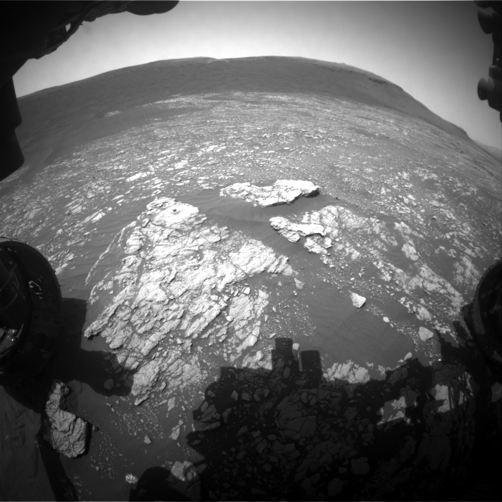 NASA's Mars rover Curiosity acquired this image using its Front Hazard Avoidance Cameras (Front Hazcams) on Sol 2381