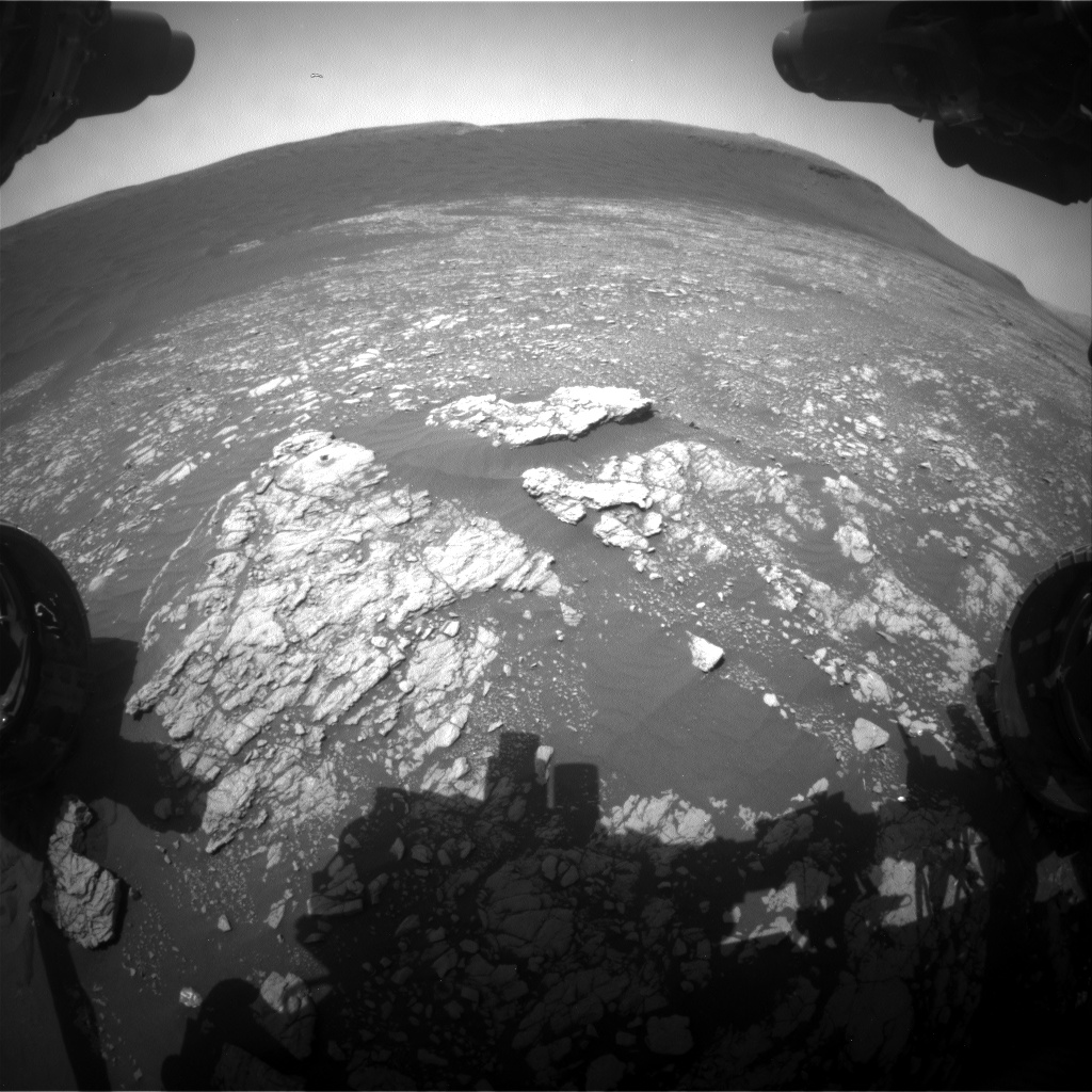 Nasa's Mars rover Curiosity acquired this image using its Front Hazard Avoidance Camera (Front Hazcam) on Sol 2381, at drive 1398, site number 75
