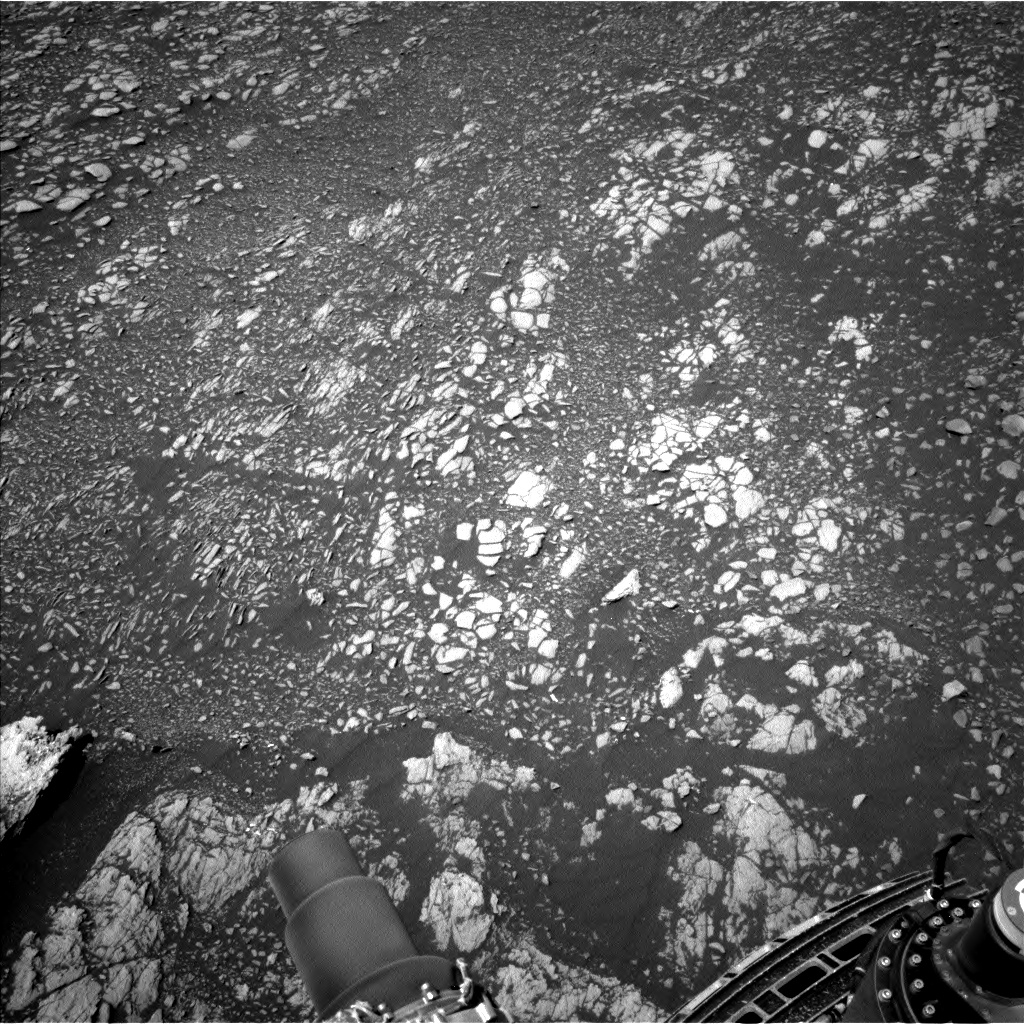 Nasa's Mars rover Curiosity acquired this image using its Left Navigation Camera on Sol 2381, at drive 1398, site number 75