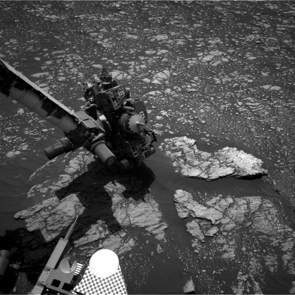 Nasa's Mars rover Curiosity acquired this image using its Right Navigation Camera on Sol 2381, at drive 1386, site number 75
