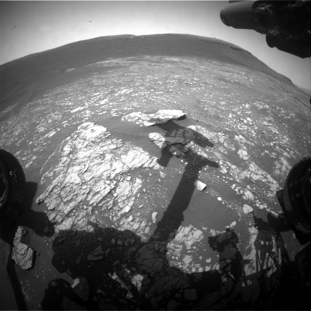 Nasa's Mars rover Curiosity acquired this image using its Front Hazard Avoidance Camera (Front Hazcam) on Sol 2382, at drive 1398, site number 75