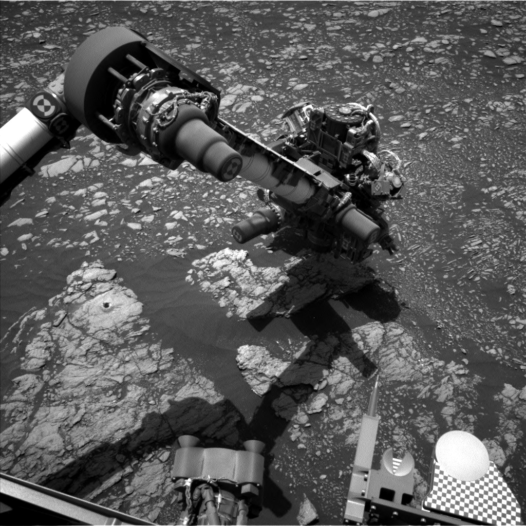 Nasa's Mars rover Curiosity acquired this image using its Left Navigation Camera on Sol 2382, at drive 1398, site number 75
