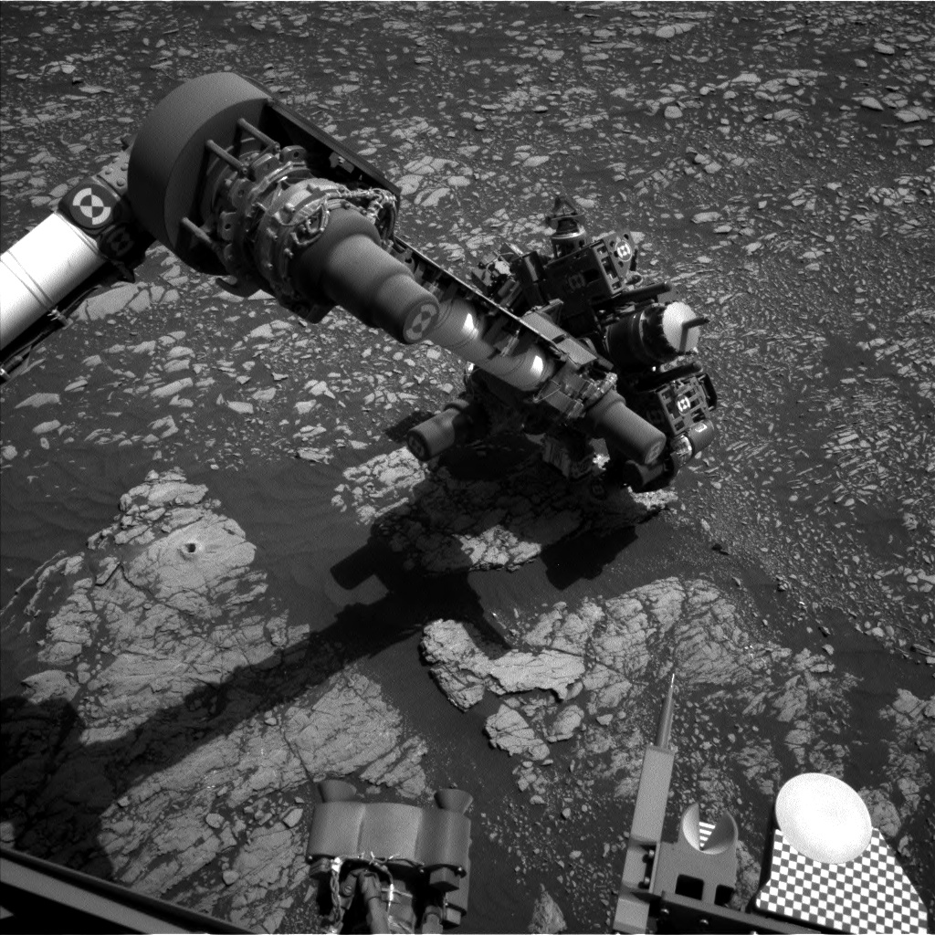 Nasa's Mars rover Curiosity acquired this image using its Left Navigation Camera on Sol 2384, at drive 1398, site number 75