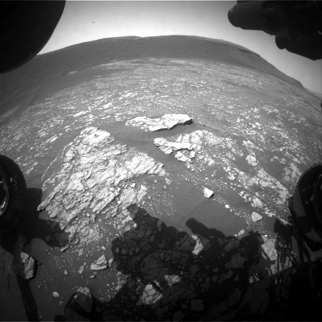 Nasa's Mars rover Curiosity acquired this image using its Front Hazard Avoidance Camera (Front Hazcam) on Sol 2386, at drive 1398, site number 75