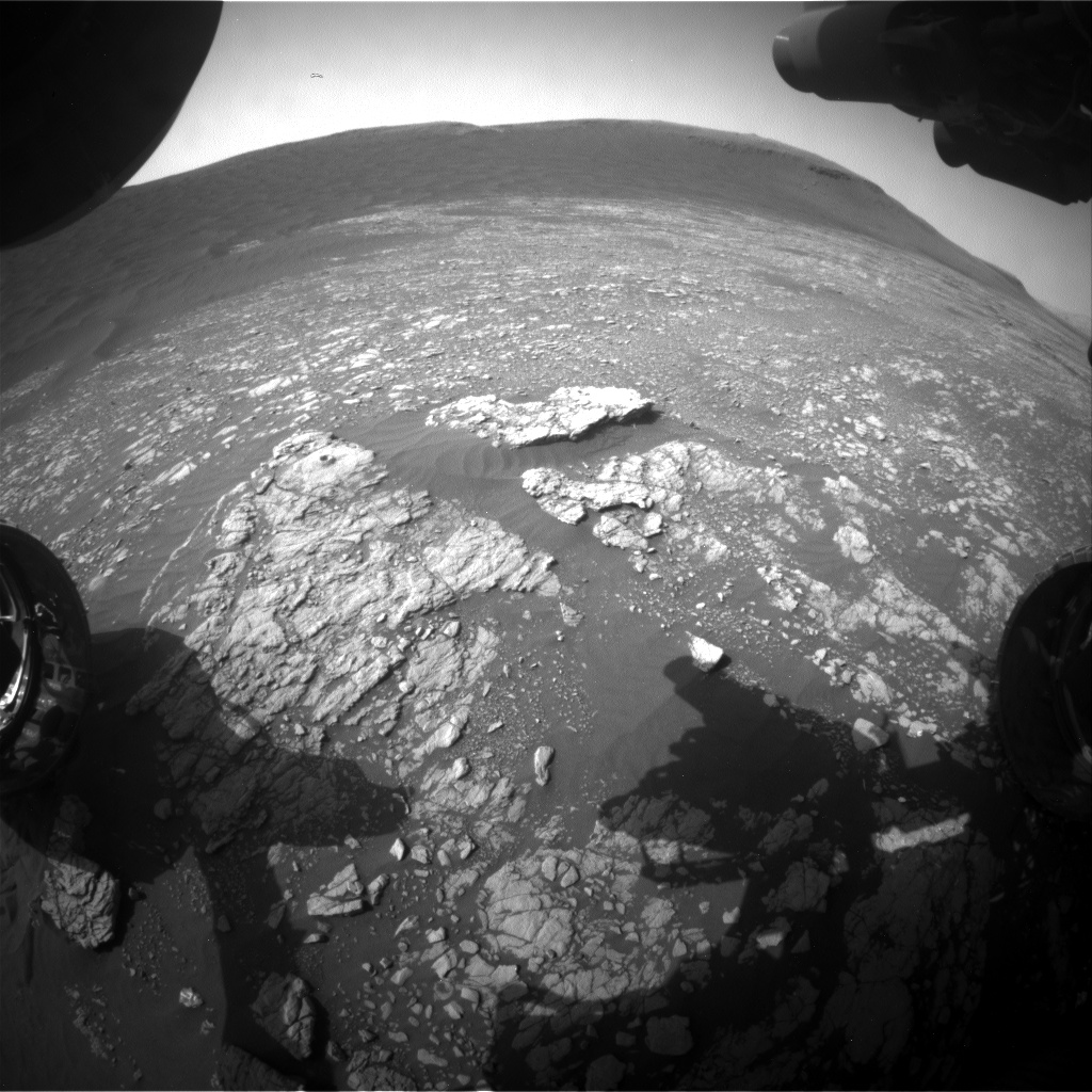 Nasa's Mars rover Curiosity acquired this image using its Front Hazard Avoidance Camera (Front Hazcam) on Sol 2388, at drive 1398, site number 75