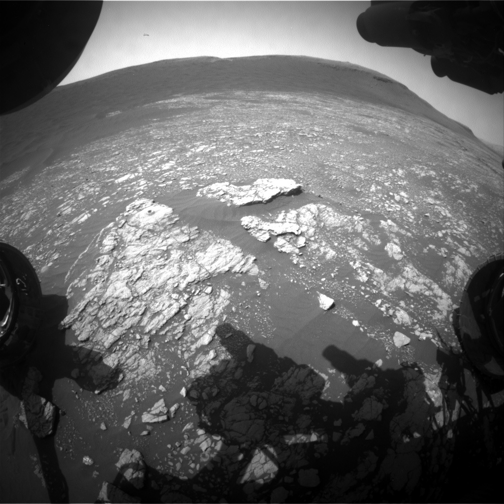Nasa's Mars rover Curiosity acquired this image using its Front Hazard Avoidance Camera (Front Hazcam) on Sol 2393, at drive 1398, site number 75