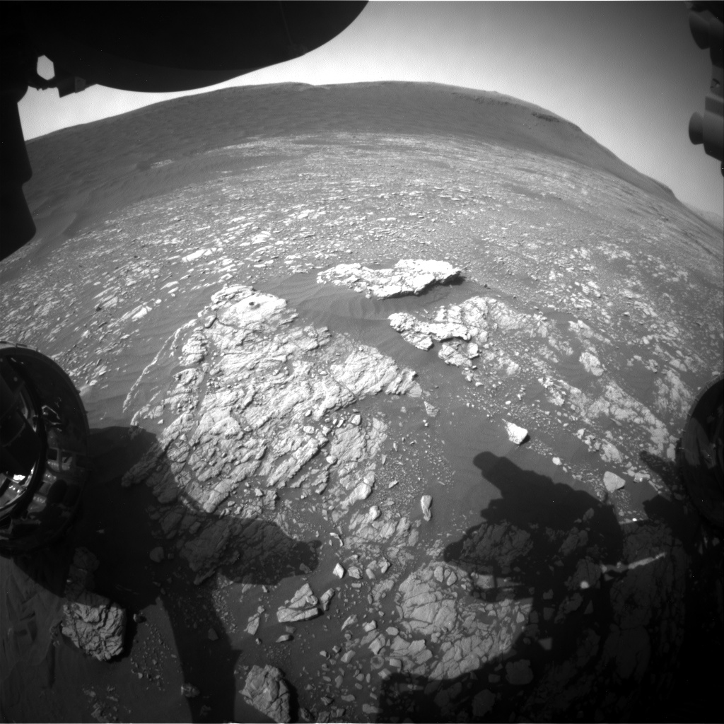 Nasa's Mars rover Curiosity acquired this image using its Front Hazard Avoidance Camera (Front Hazcam) on Sol 2397, at drive 1398, site number 75