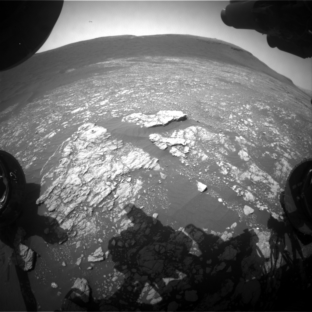 Nasa's Mars rover Curiosity acquired this image using its Front Hazard Avoidance Camera (Front Hazcam) on Sol 2398, at drive 1398, site number 75