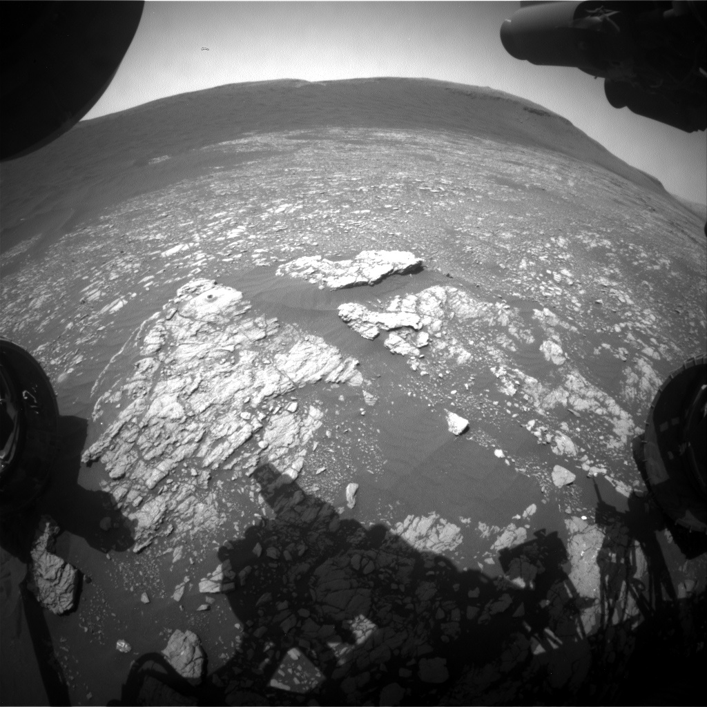 Nasa's Mars rover Curiosity acquired this image using its Front Hazard Avoidance Camera (Front Hazcam) on Sol 2399, at drive 1398, site number 75