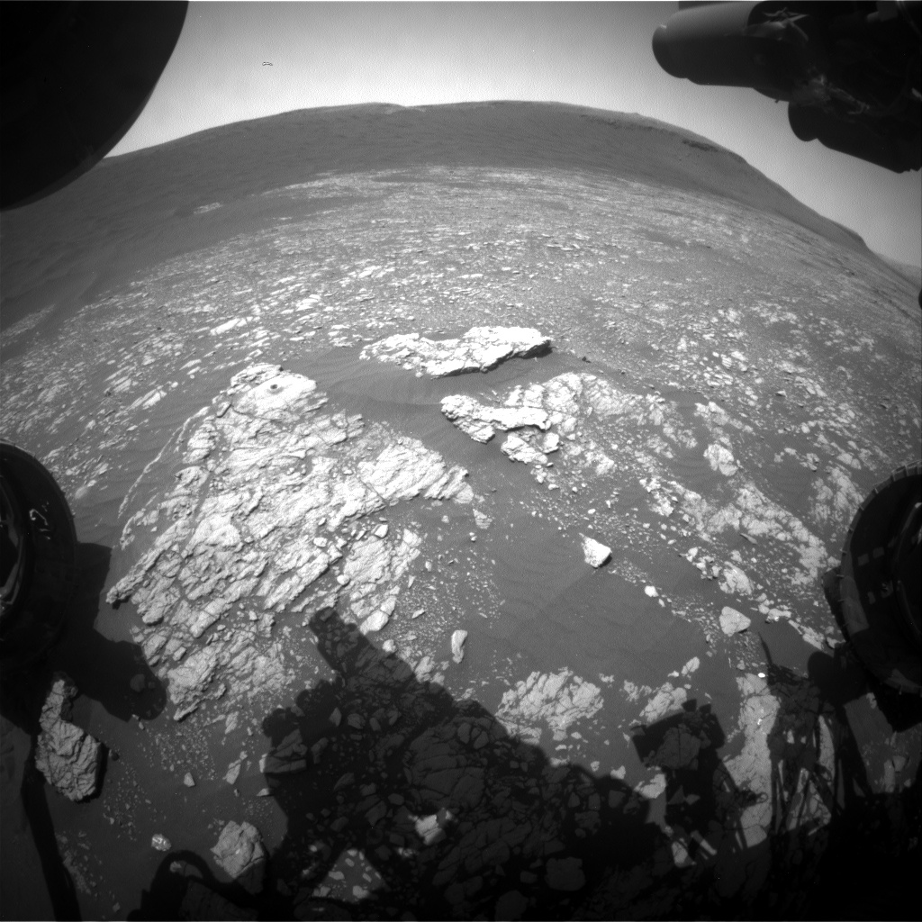 Nasa's Mars rover Curiosity acquired this image using its Front Hazard Avoidance Camera (Front Hazcam) on Sol 2400, at drive 1398, site number 75