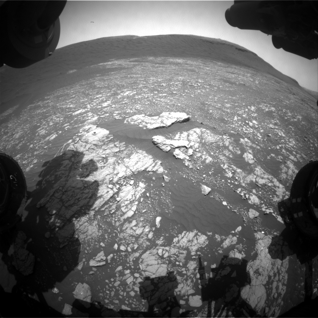 Nasa's Mars rover Curiosity acquired this image using its Front Hazard Avoidance Camera (Front Hazcam) on Sol 2403, at drive 1398, site number 75