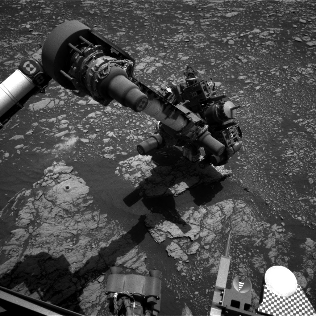 Nasa's Mars rover Curiosity acquired this image using its Left Navigation Camera on Sol 2405, at drive 1398, site number 75