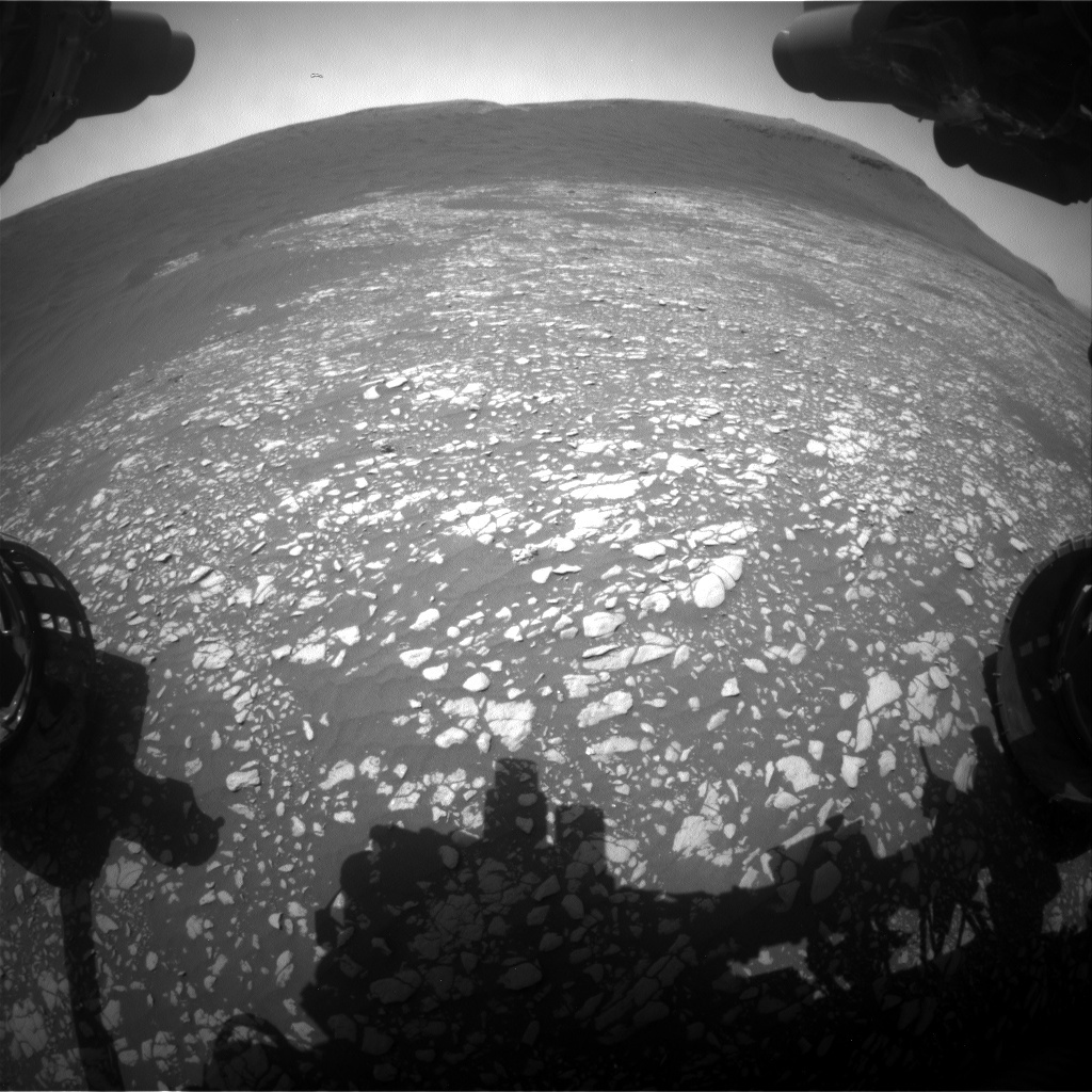 NASA's Mars rover Curiosity acquired this image using its Front Hazard Avoidance Cameras (Front Hazcams) on Sol 2407