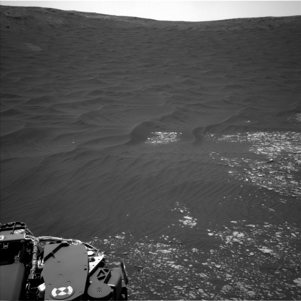 Nasa's Mars rover Curiosity acquired this image using its Left Navigation Camera on Sol 2407, at drive 1450, site number 75