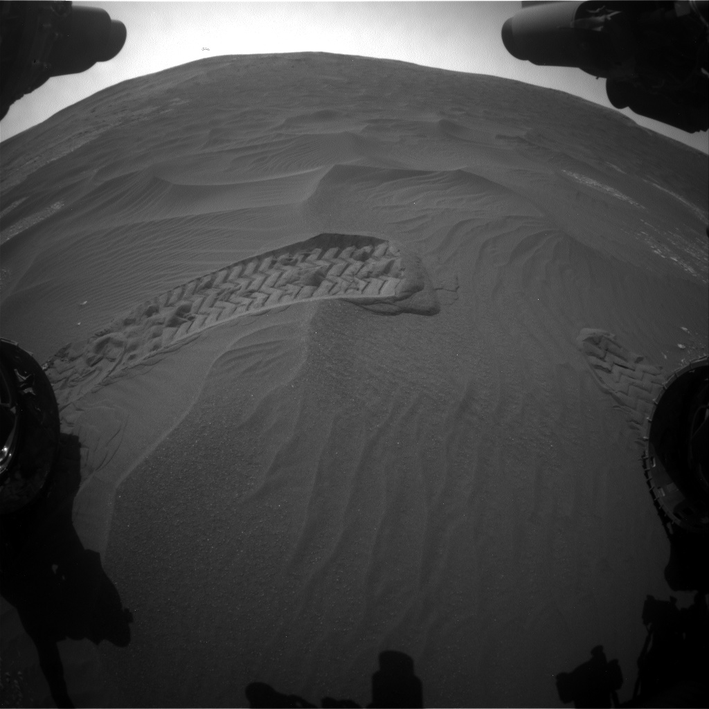 Nasa's Mars rover Curiosity acquired this image using its Front Hazard Avoidance Camera (Front Hazcam) on Sol 2408, at drive 1564, site number 75