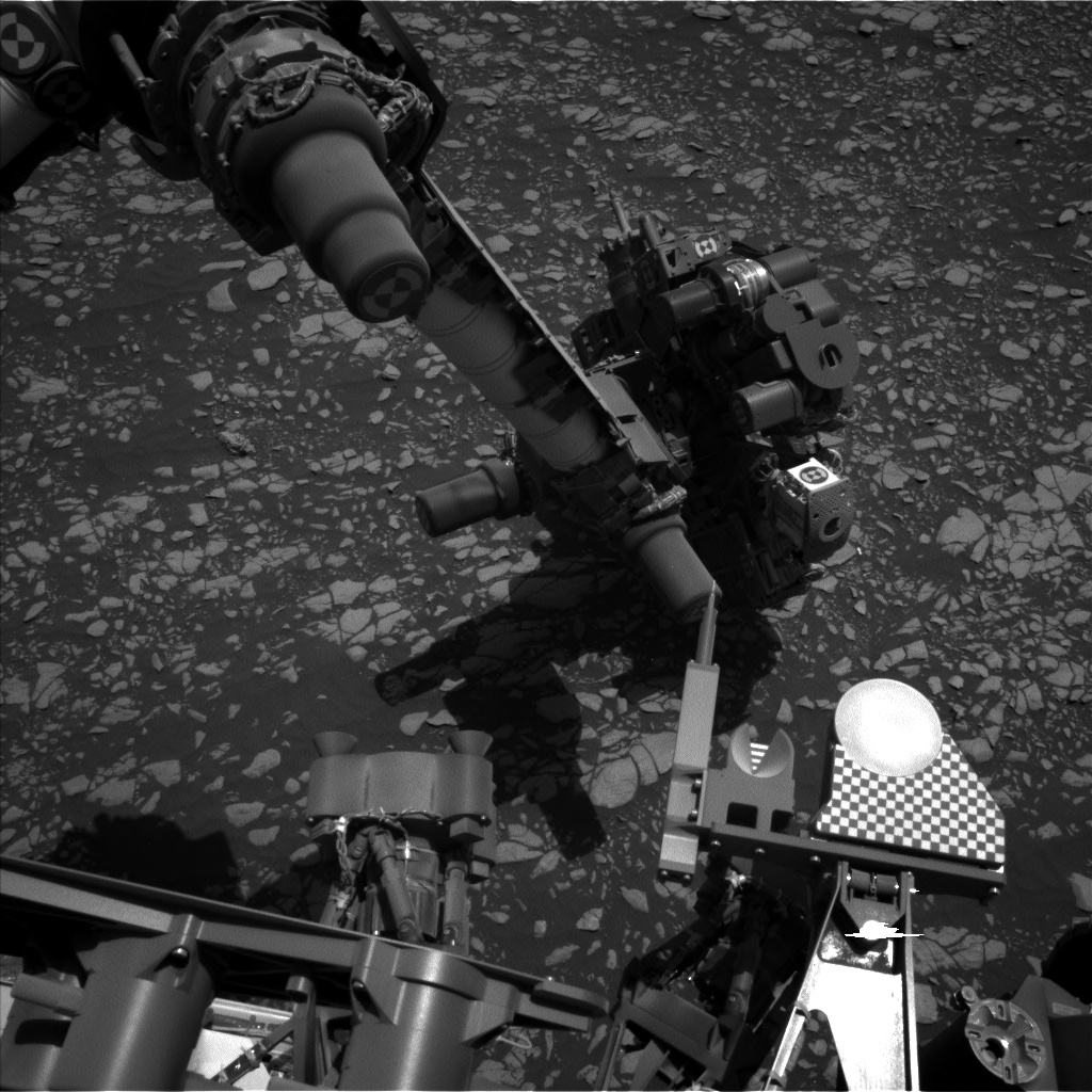 Nasa's Mars rover Curiosity acquired this image using its Left Navigation Camera on Sol 2408, at drive 1450, site number 75