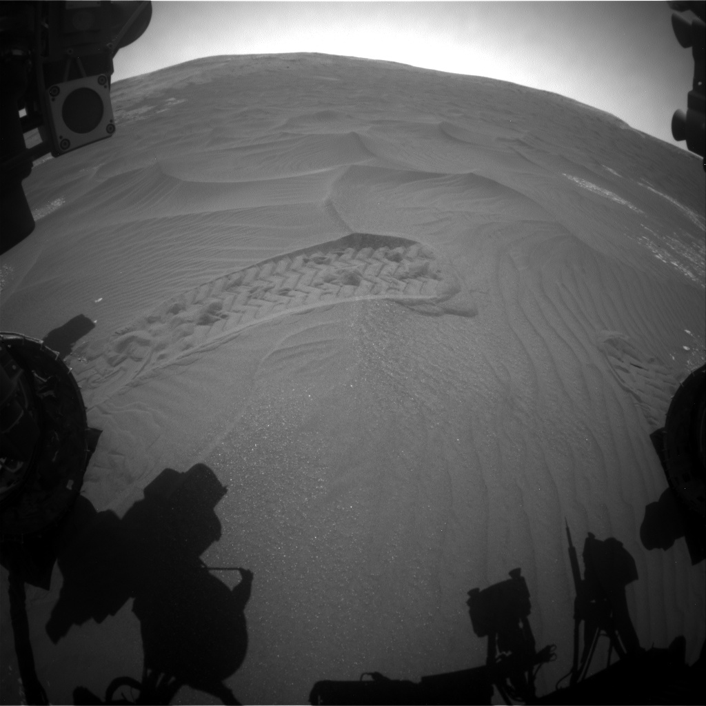 Nasa's Mars rover Curiosity acquired this image using its Front Hazard Avoidance Camera (Front Hazcam) on Sol 2410, at drive 1564, site number 75