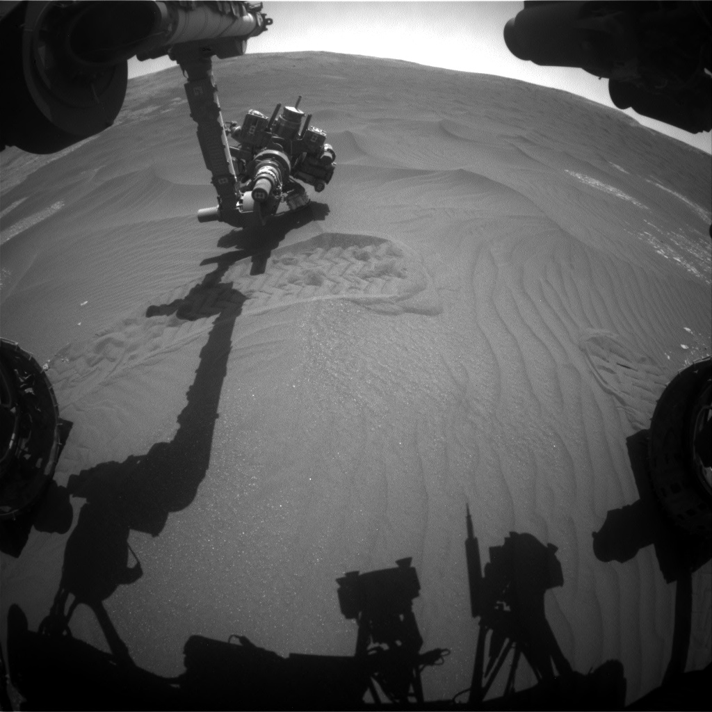 Nasa's Mars rover Curiosity acquired this image using its Front Hazard Avoidance Camera (Front Hazcam) on Sol 2411, at drive 1564, site number 75