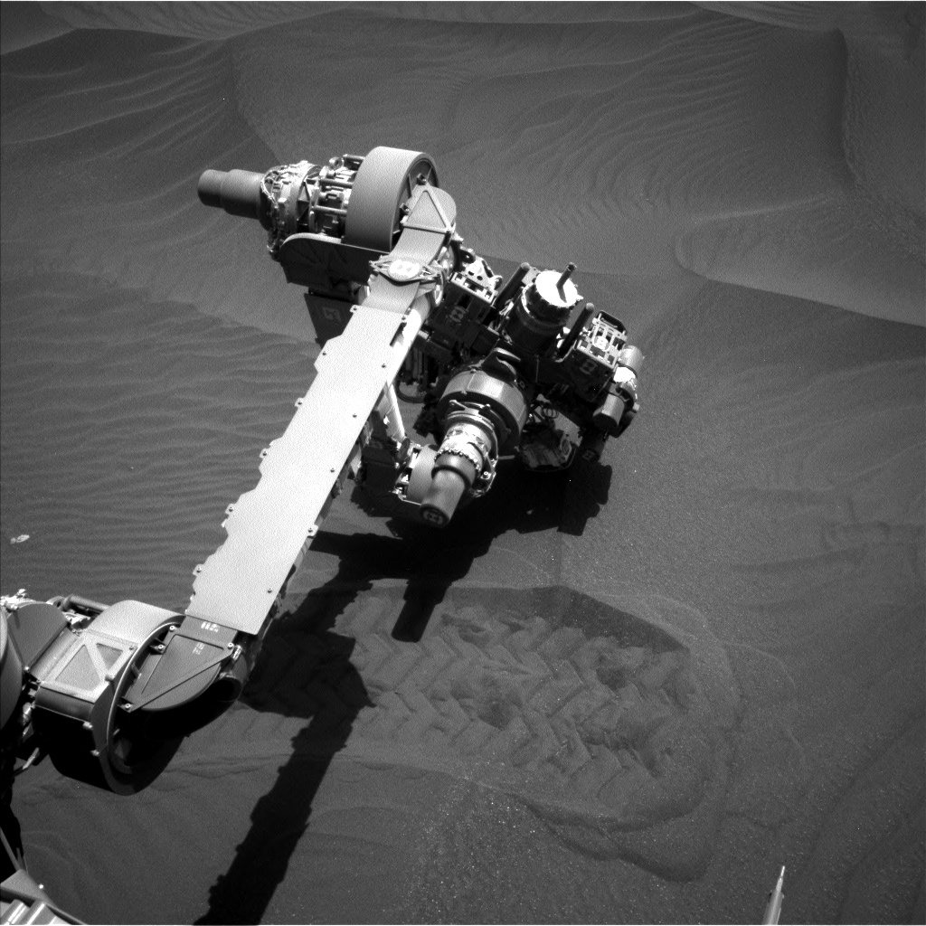 Nasa's Mars rover Curiosity acquired this image using its Left Navigation Camera on Sol 2411, at drive 1564, site number 75
