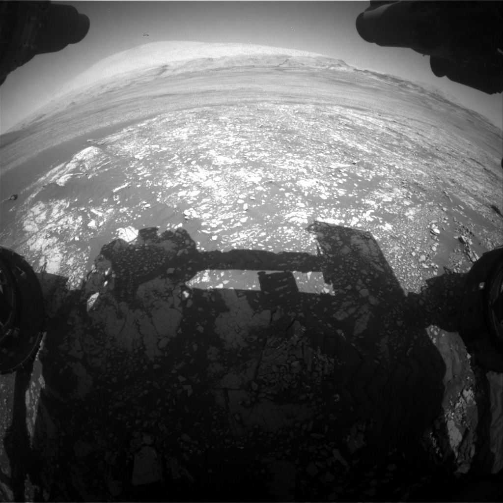 Nasa's Mars rover Curiosity acquired this image using its Front Hazard Avoidance Camera (Front Hazcam) on Sol 2412, at drive 1916, site number 75