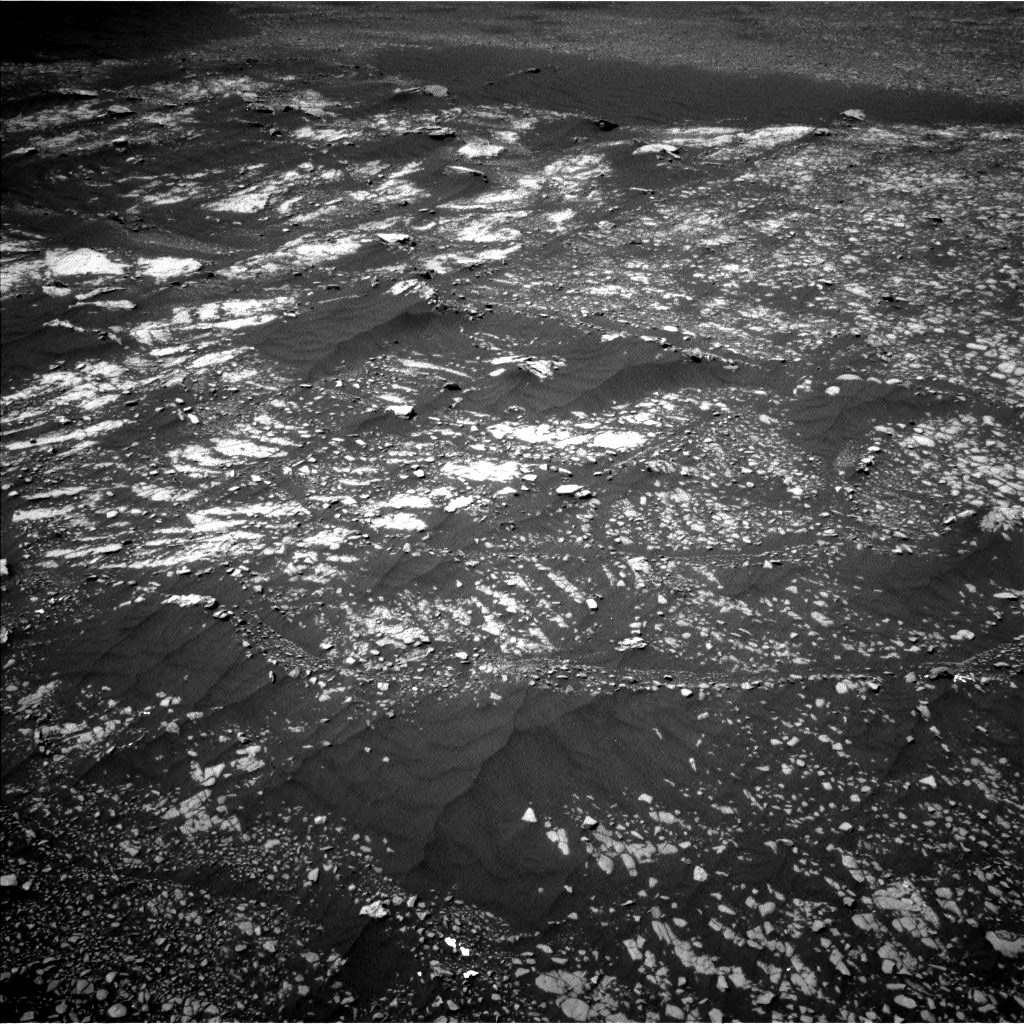 Nasa's Mars rover Curiosity acquired this image using its Left Navigation Camera on Sol 2412, at drive 1840, site number 75